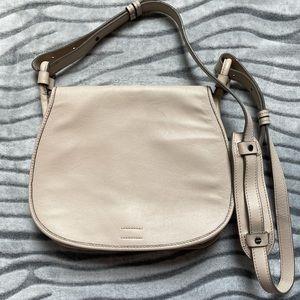 Beige Leather Shoulder Bag Banana Republic